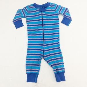 Hanna Andersson Organic Cotton Zipper Pajamas Blue